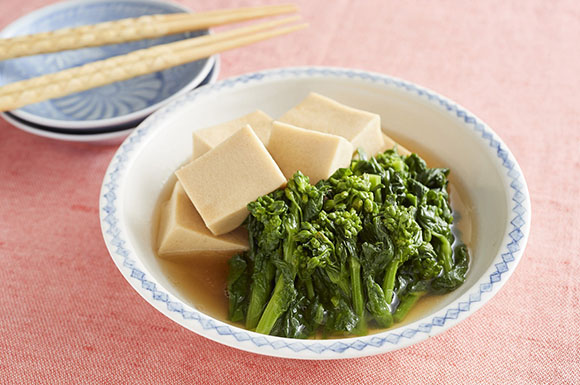 菜の花と高野豆腐のサッと煮