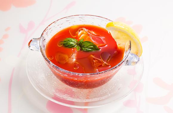 トマトジュースde 白だしスープ