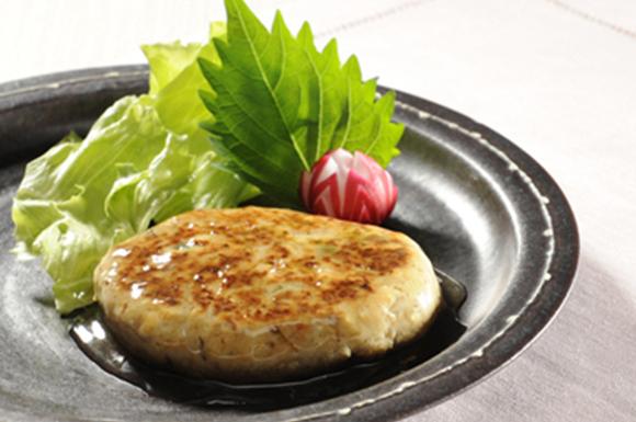 煮干入り豆腐ハンバーグ