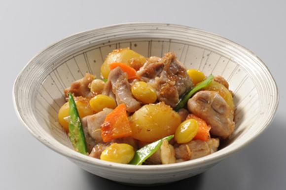 栗と銀杏と鶏の煮物