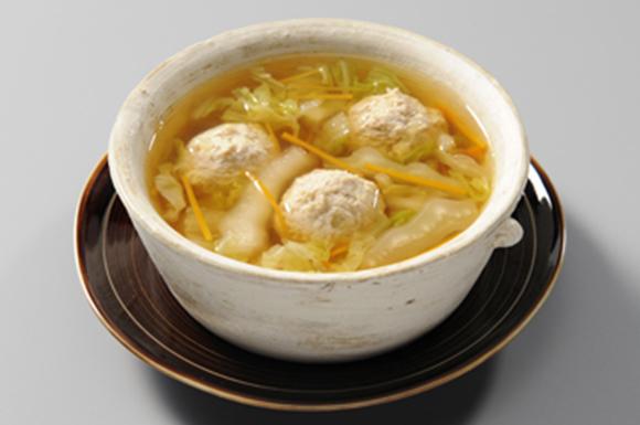 白菜のミートボールのスープ