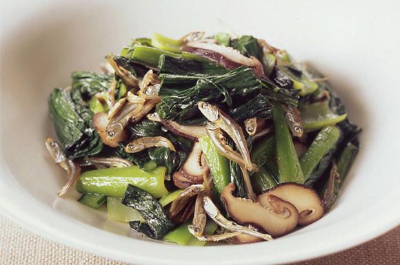 青菜のジャコ炒め