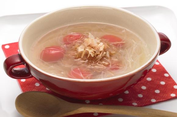 プチトマトと春雨のスープ