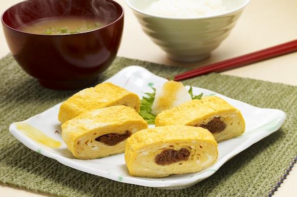 節巻きたまご(おかか入り厚焼き卵)