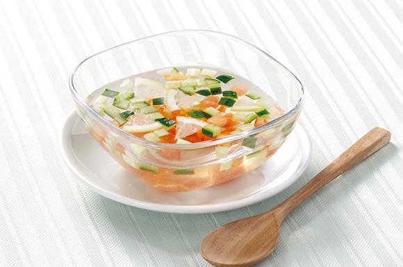 トマトときゅうりの冷スープ