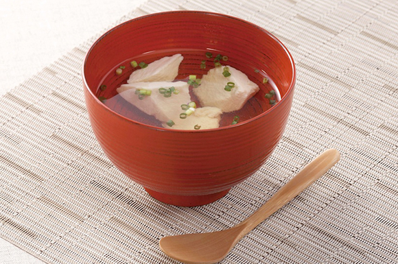 豆腐とネギの温スープ