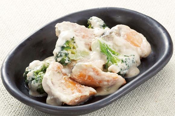 鮭とブロッコリーのクリーム煮