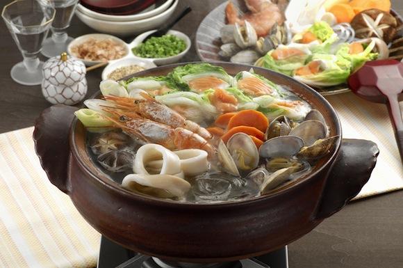 鮭ロールのだし旨海鮮鍋
