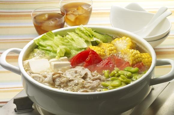 夏野菜三色鍋