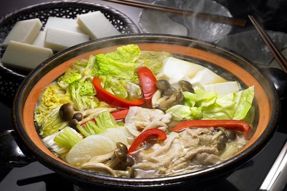 豚しゃぶと青野菜のちゃんこ鍋