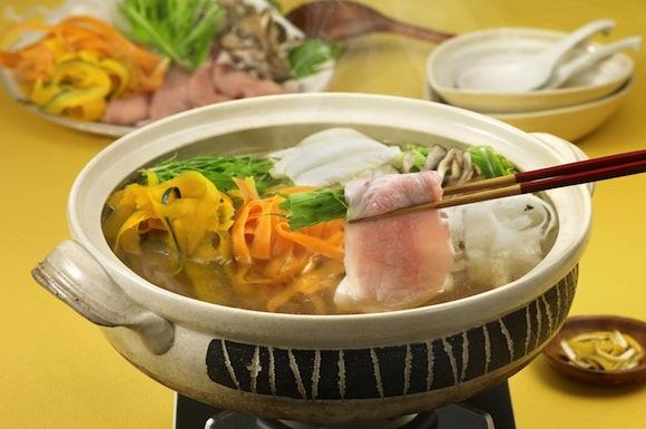 彩り野菜の豚しゃぶ鍋